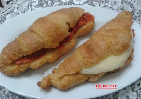 rellenos salados croissants caseros con rellenos salados receta de penchi