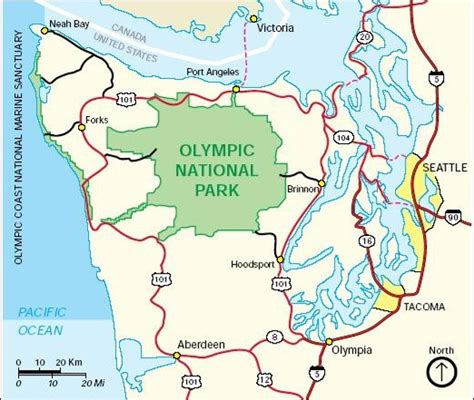 olympic national park map location of olympic national park on a map prairie creek redwoods state park location on a map