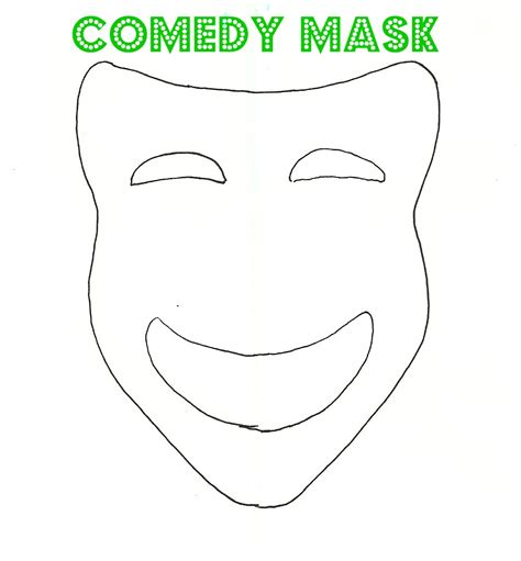 Theatre Mask Outline by 29 Images Of Sad Mask Template Printable Infovia Net
