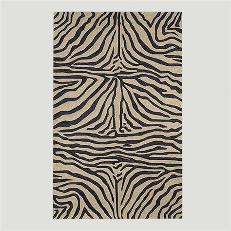 Zebra Indoor Outdoor Rug Black Ravella Zebra Indoor Outdoor Rug World Market