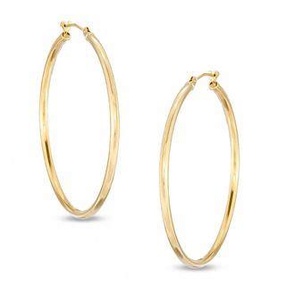 42mm polished hoop earrings in 14k gold gold earrings