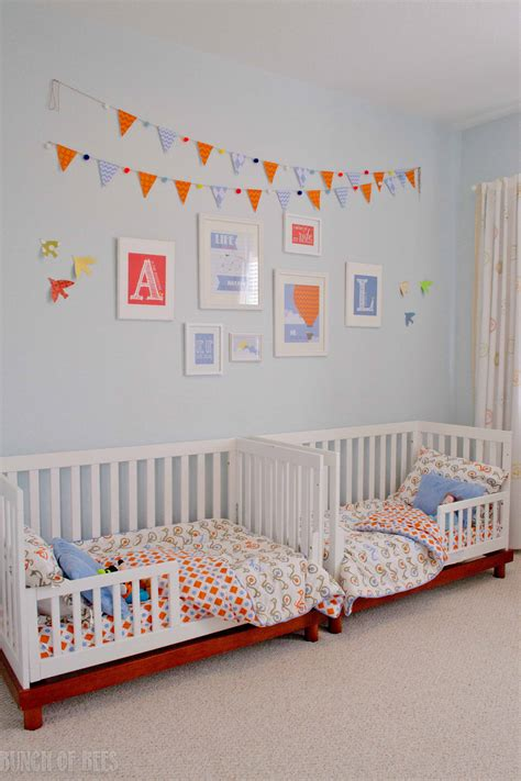 boy toddler bed twin boys toddler room project nursery