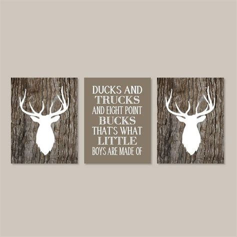 Country Nursery Decor Baby Boy Nursery Decor Deer Antler Rustic Nursery Country Nursery Quote Set Of 3 Prints Boy