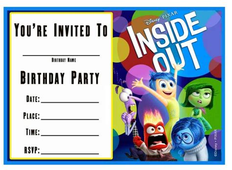 Inside Out Printable Party Decorations | free inside out printable party decoration pack