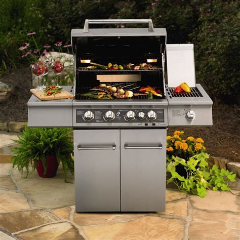 Kitchenaid Outdoor Grill 36 Kitchenaid 4 Burner Dual Energy Outdoor Gas Grill W Led