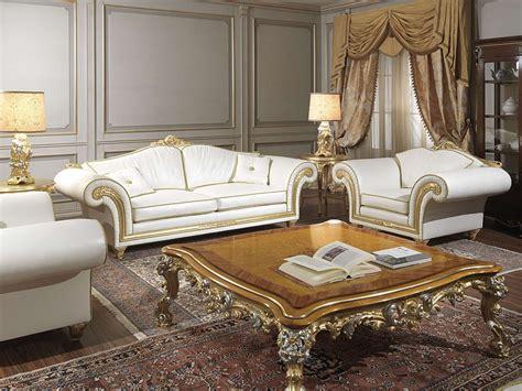 tavolini poltrone e sofa salotto classico imperial con divano e poltrone