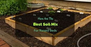 Vegetable Garden Soil Mix by Here Are The Best Soil Mix For Raised Beds