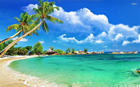 wallpaper hd for desktop full screen 1080p tropical beach wallpapers desktop wallpaper cave
