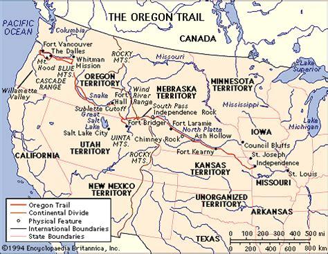 map of oregon trail 1850 conestoga wagons on covered wagon oregon