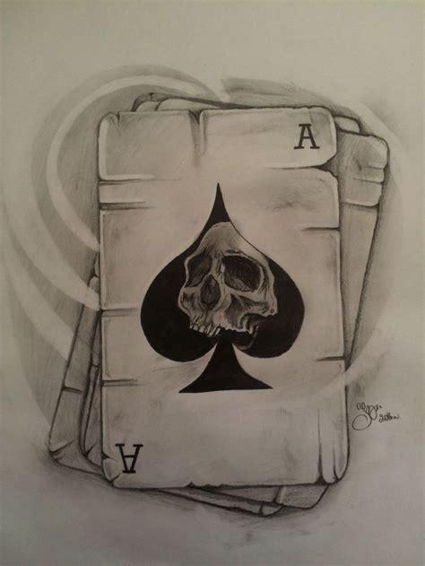 skull play cards tattoo  sketcbook pinterest tattoos card tattoo  tattoo designs