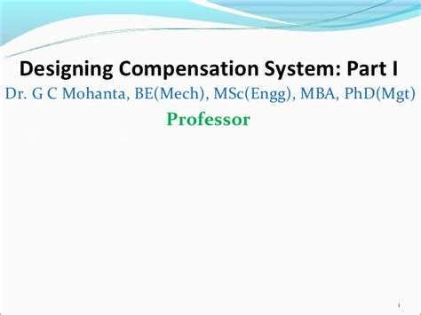 Business Administration Mba Phd Mba Jd Gc by Designing Compensation System Part I