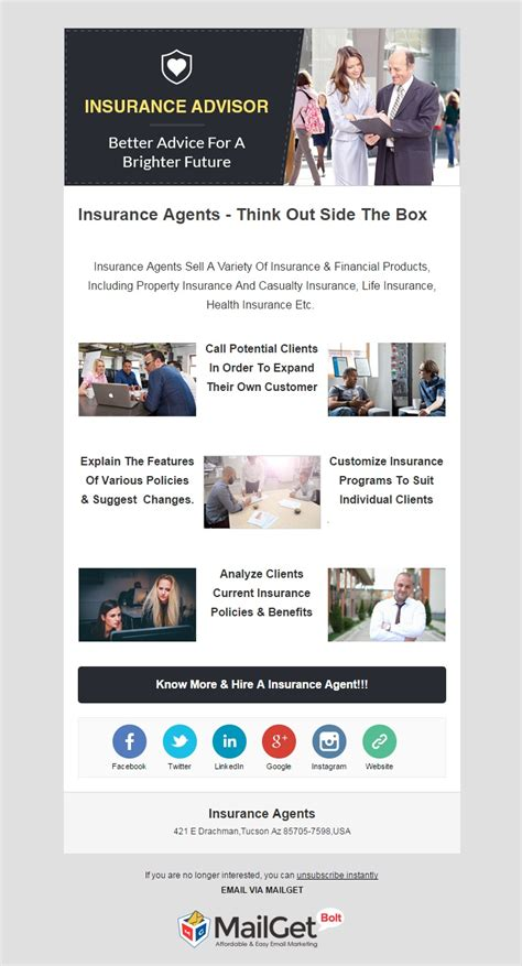 Marketing Email Template Sle 10 Best Insurance Email Templates Insurance Agencies Formget