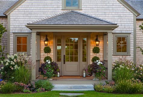 front entry nantucket home with new coastal interiors home bunch