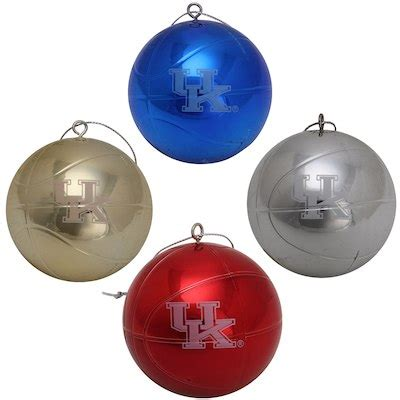 harvard university crimson basketball christmas ornament cfs kentucky wildcats four pack shiny basketball ornament set