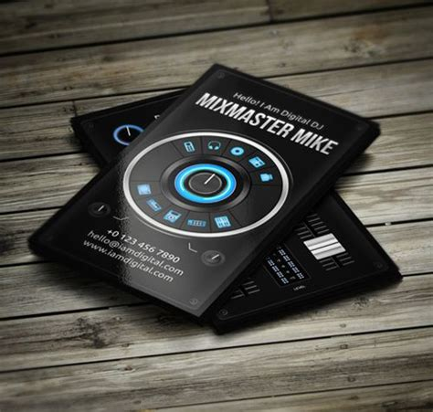 dj business card template photoshop inspire amazing dj business cards psd templates web