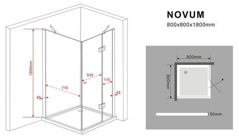 duschkabine novum 80 x 80 x 180 cm ohne duschtasse - Eingangstüren Nach Außen öffnend