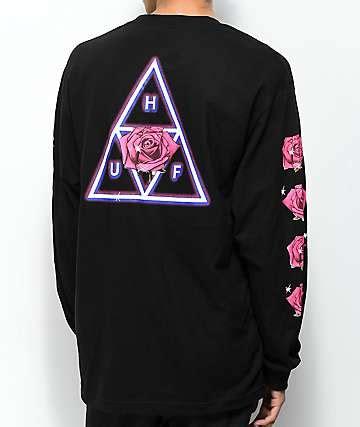 Kaos Sleeve Huf Triangle Black Dyed huf clothing zumiez