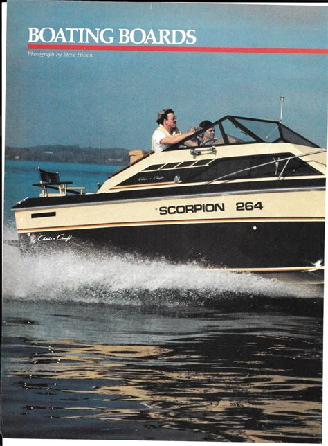 chris craft boats reviews 1982 chris craft scorpion 264 boat review specs nice