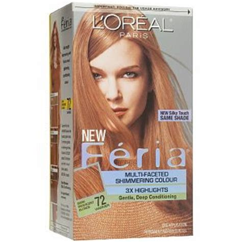 strawberry blonde boxed color feria 72 dark iridescent blonde caramel kiss haircolor