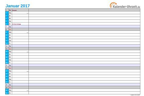 Kalender 2017 Monat Kalender 2017 Zum Ausdrucken Kostenlos