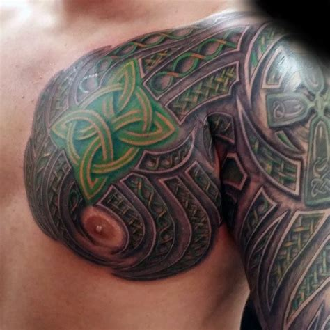 40 Celtic Sleeve Tattoo Designs For Men Manly Ink Ideas Celtic Tribal Designs