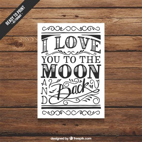 retro handwritten card for valentines day vector free