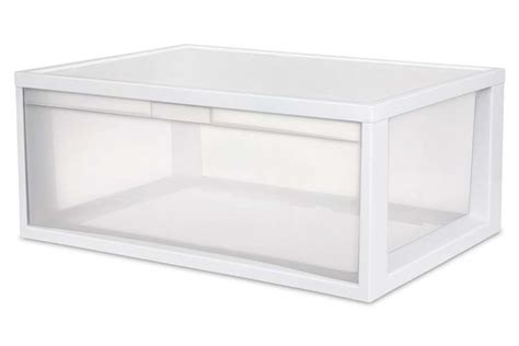 sterilite single drawer storage sterilite large tall modular stacking storage drawer
