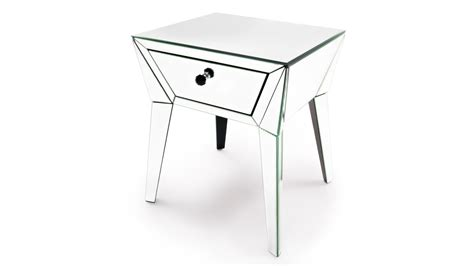 mirror accent tables lave mirrored glass end table zuri furniture