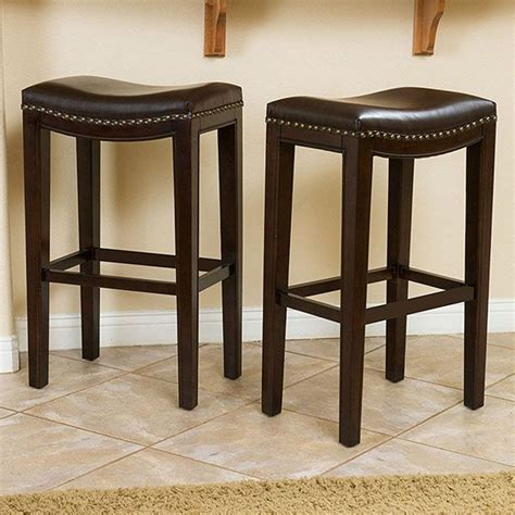Brown Leather Backless Counter Stool by Best 25 Leather Bar Stools Ideas On Counter