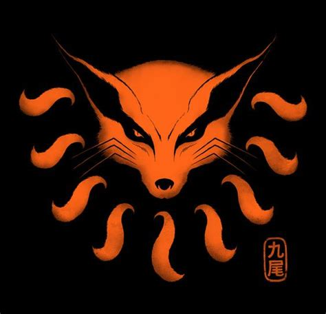 New Product Kaos Anime Seal Kyuubi 9 tailed beast print anime and
