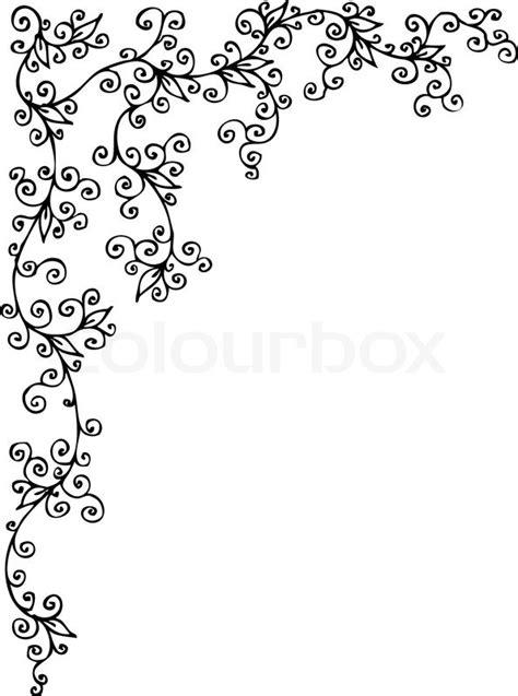 Wedding Writing Border by Refined Floral Vignette 205 Eau Forte Decorative Vector