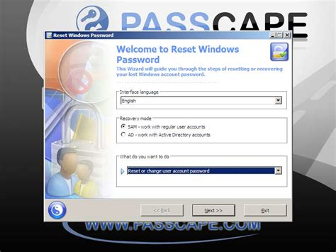 passcape reset windows password iso full booting rwp from cd dvd or usb drive