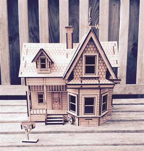 UP House detailed MDF model Kit   DIY   Samantha K