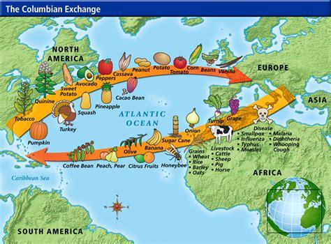 columbian exchange map us history maps