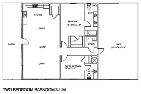 Home Shop Plans by 30 Barndominium Floor Plans For Different Purpose
