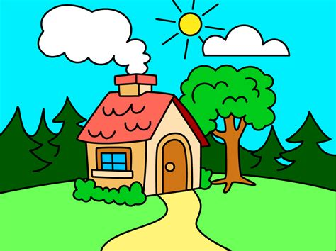 House Drawing For Kids Www Pixshark Com Images Galleries With A Bite Children Drawing Pictures For Painting
