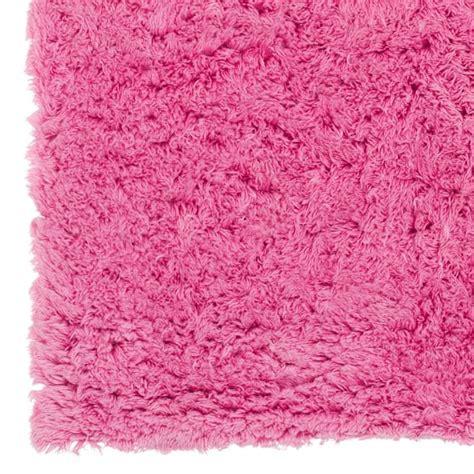 pink plush rug ultra plush rug bright pink pbteen