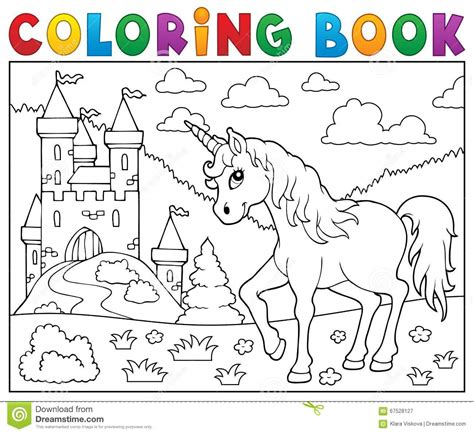 unicorn coloring book coloring book with beautiful unicorn designs unicorns coloring books books licorne de livre de coloriage pr 232 s de ch 226 teau illustration
