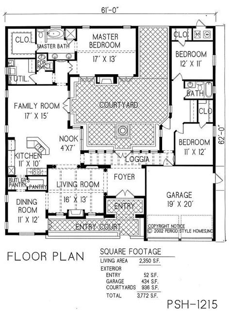 courtyard plans best 20 courtyard house plans ideas on one floor house plans floor plan of house