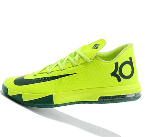 fluorescent basketball shoes nike kd6 fluorescent green black kevin durant basketball