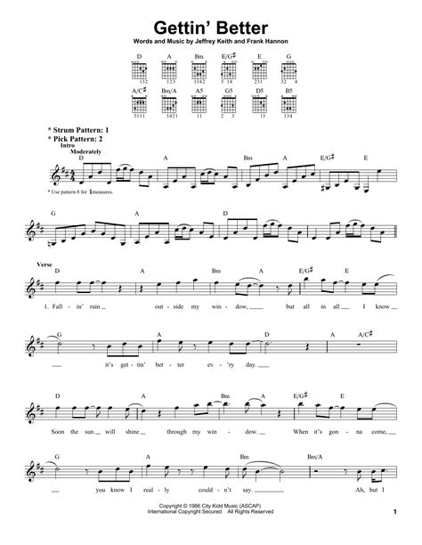 Song Chords Tesla Gettin Better Sheet By Tesla Easy Guitar 158176
