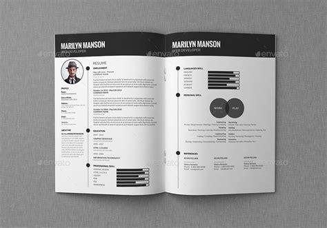 resume cv portfolio  giantdesign graphicriver