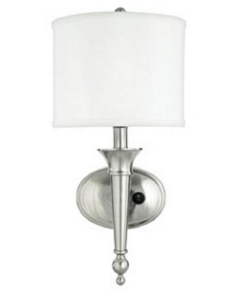 brushed nickel wall sconces unique brushed nickel wall sconce with shade ebay
