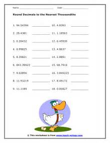 free math worksheet rounding decimals 1000 ideas about