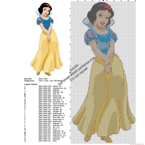 snow white pattern free disney snow white free cross stitch pattern 88 x 196 29