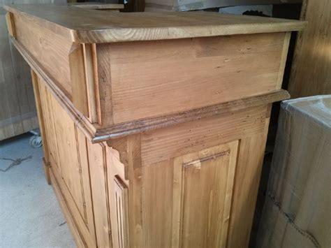 comptoir en bois massif bar comptoir en bois ancien pin massif