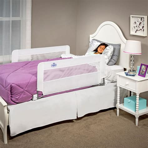 regalo hide away bed rail amazon com regalo hide away double sided bed rail white