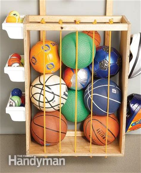Garage Storage For Balls Garage Storage Solutions One Weekend Wall Of Storage