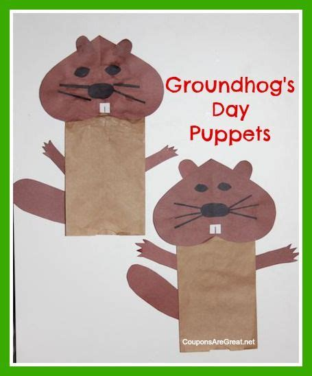 groundhog day supplies groundhog s day puppets pre k ideas puppet