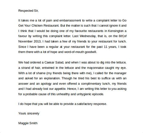 Apology Letter For Guest Complaint Sle Apology Letter To Customer 7 Documents In Pdf Word